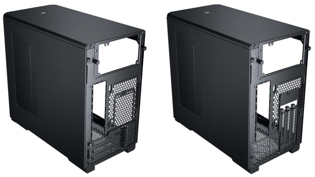 Phanteks Eclipse P200A ITX chassis rear view