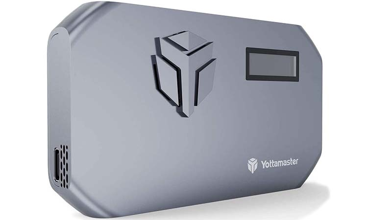 Yottamaster M.2 NVMe SSD Enclosure-with Cooling Fan and LED Temperature