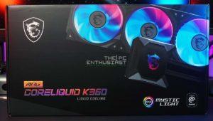 MSI MPG CoreLiquid K360 AIO Liquid CPU Cooler Review